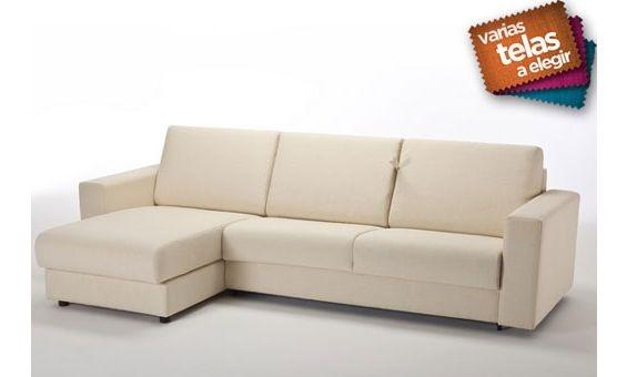 12 best sofas y butacas de piel images on pinterest for Sofa cama chaise longue piel