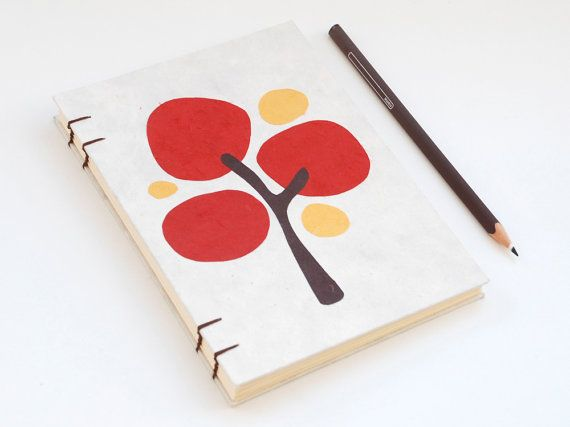 Color Tree handmade coptic stitched notebook Neutral by PiCKEE, €17.80