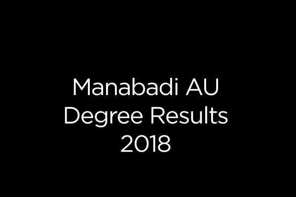 Manabadi AU Degree Results 2018 - AU BA, B Sc, B Com 1st, 2nd, 3rd