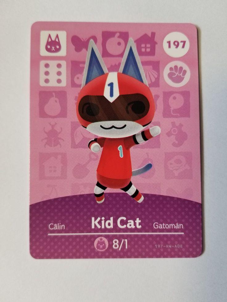 Animal crossing amiibo card kid cat 197 mercari in 2020