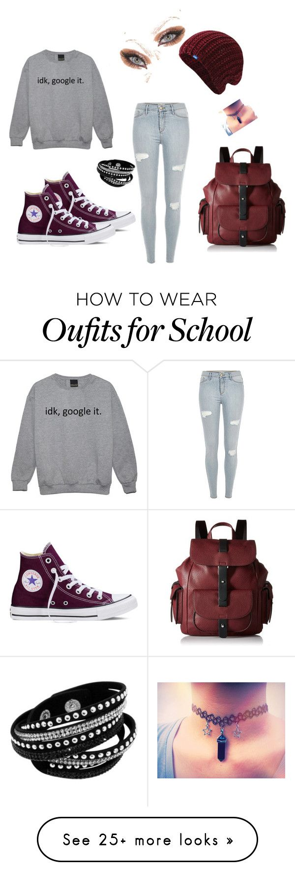 """Laid back school"" by cecemarine13 on Polyvore featuring Converse, Keds, Kenneth Cole Reaction and casual"