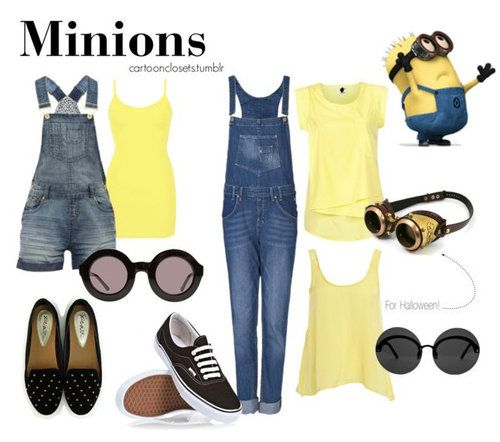 Minions outfit by cartoonclosets.tumblr.com