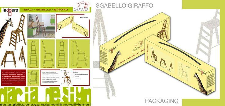 Progettazione Scala Sgabello Giraffo