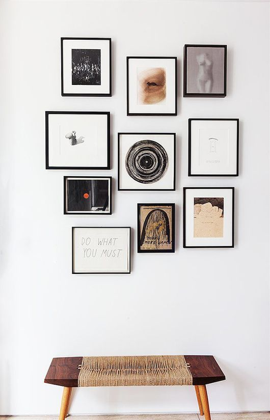 Black and white framed collection