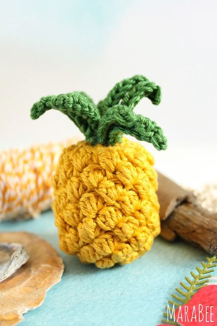 Ananas Gehäkelt Amigurumi Fruits Crocheted Fruit