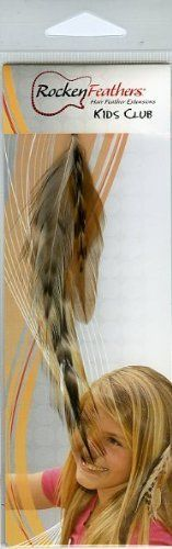 Rocken Feathers Kids Club Natural Hair Extensions Hand Made in the USA - Natural!! by Rocken Feathers. $13.95. Wowzzer!! We are very proud to be an official internet distributor of Rocken Feathers Natural Hair Extensions. Feather Hair Extensions are the hottest fashion trend that is sweeping the country! Many of todays most popular young celebrities are wearing them including Selena Gomez, Kei$ha, Miley Cyrus, Hillary Duff, Jennifer Love Hewitt to name just a few. They a...