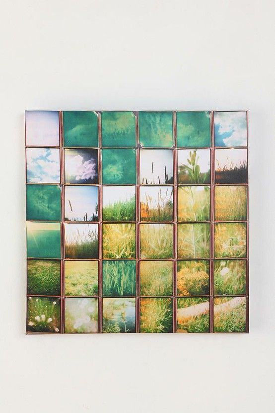 DIY Wall Art. Photo collage landscape - a way to reuse an