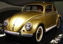 Wirtschaftswunder - The Volkswagen Beetle was an icon of West German reconstruction. This one-off celebrated the 1,000,000th made.