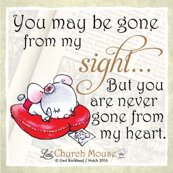 Those we love don't go away, they walk beside us every day ❤️ #LittleChurchMouse