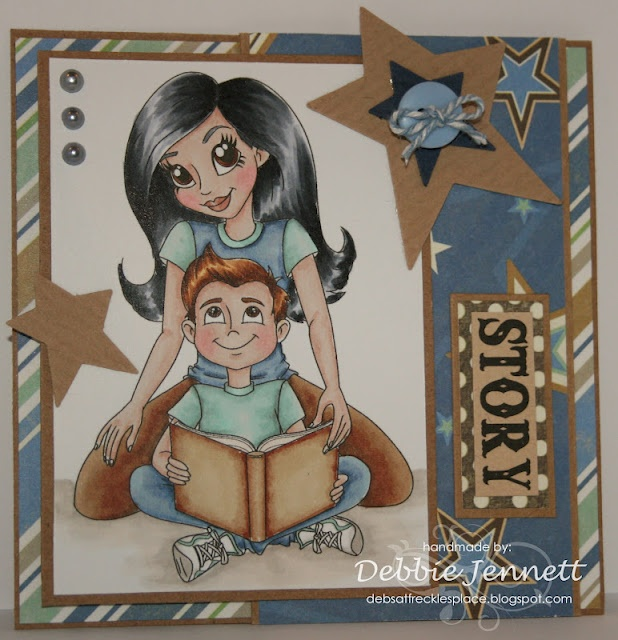 "Redonkadoodles.com - ""Mother and Son"" Digital Stamp - Handmade Card Design By: Deb Jennett"