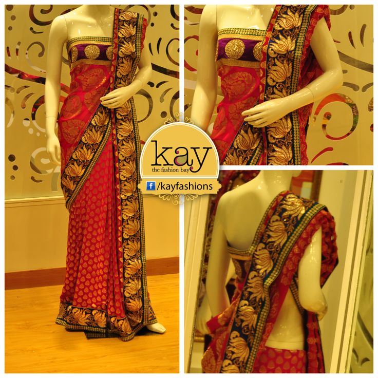 Would you try out this saree draping style? Can you tell us how the pallu is draped here?  http://www.kayfashions.in/#!/ #fashion #indian #weddings #bridal #lehenga #ghagra #anarkali #salwar #designer #ethnic #boutique #chennai #shopping #triplicane #dress #clothes #traditional #saree #sari #silksaree