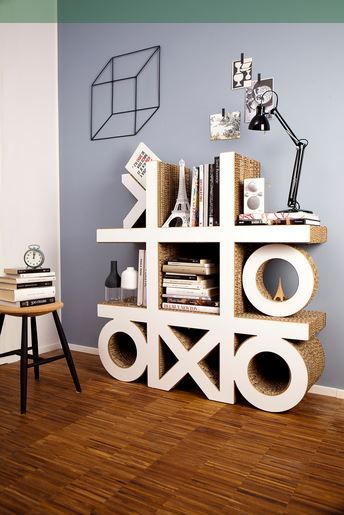 24 DIY Cardboard projects ~ A really cool cardboard book shelf!