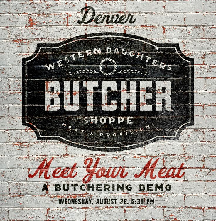 Hey Denver, the amazing new local butcher shop weve been working with, Western Daughters, is doing a super interesting class tomorrow evening for those interested in sustainable, whole animal butchery. Ill be there, and you can sign up here.