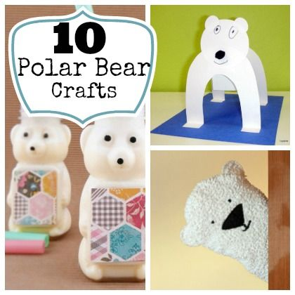 10 Polar Bear Crafts For Kids. So cute! Perfect for cold weather lessons!