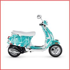 turquoise patterned scooter