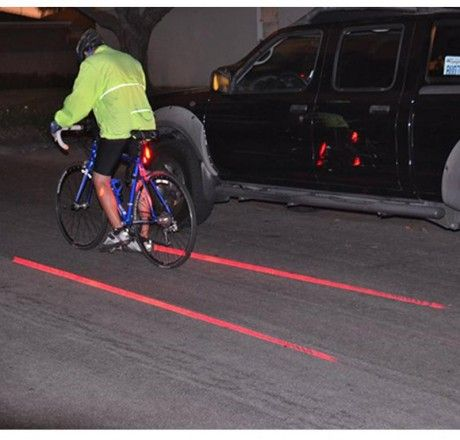 Bisiklet Güvenlik Işığı Lazer Özellikli || YüzlerceÇeşit.com