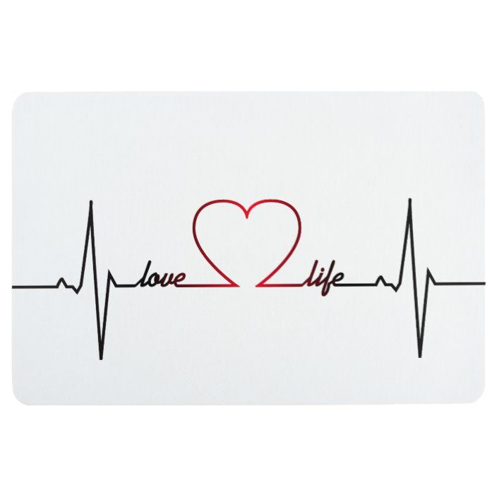 Heart Beat With Love Life Inspirational Quote Floor Mat Zazzle Com In 2020 Love Life Tattoo Heartbeat Tattoo With Name Heartbeat Tattoo