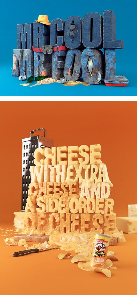 3D Typography by Chris Labrooy | Inspiration Grid | Design Inspiration