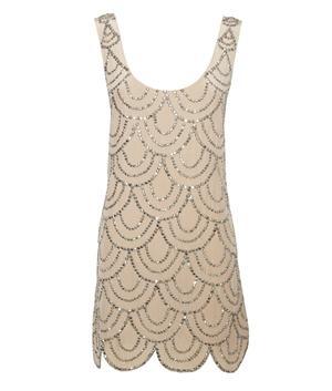 Sparkly scallop dress by Rachel Gilbert