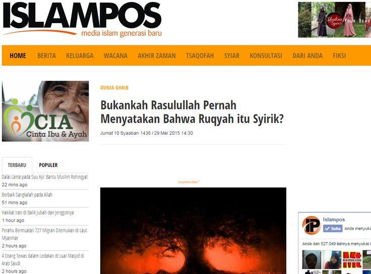 Islampos: ukankah Rasulullah Pernah Menyatakan Bahwa Ruqyah itu Syirik?