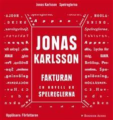 """""""Fakturan"""" är en av novellerna ur boken SpelreglernaI """"Fakturan"""" slås fötterna undan fullständigt på en man då han får en oväntad faktura på 5,7 miljoner kronor för sina livskostnader. I Jonas Karlssons nya novellsamling återfinns pricksäkra tonträffar, på-kornet-detaljer och karakteristiska underfundigheter, sådant som han har gjort till Karlssonska signum. Samtidigt har det blivit både svartare och ännu lite mer skruvat än tidigare, med berättelser som förvisso utspelar sig i en alldaglig…"""