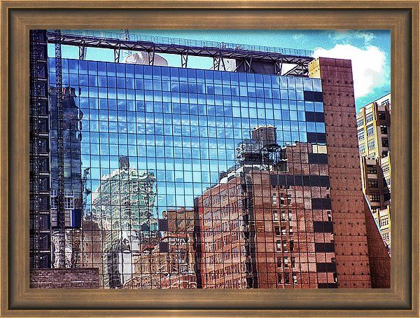 Framed Print featuring the photograph New York City Skyscraper Art 4 by Judi Saunders. Many styles and colors of frame available.