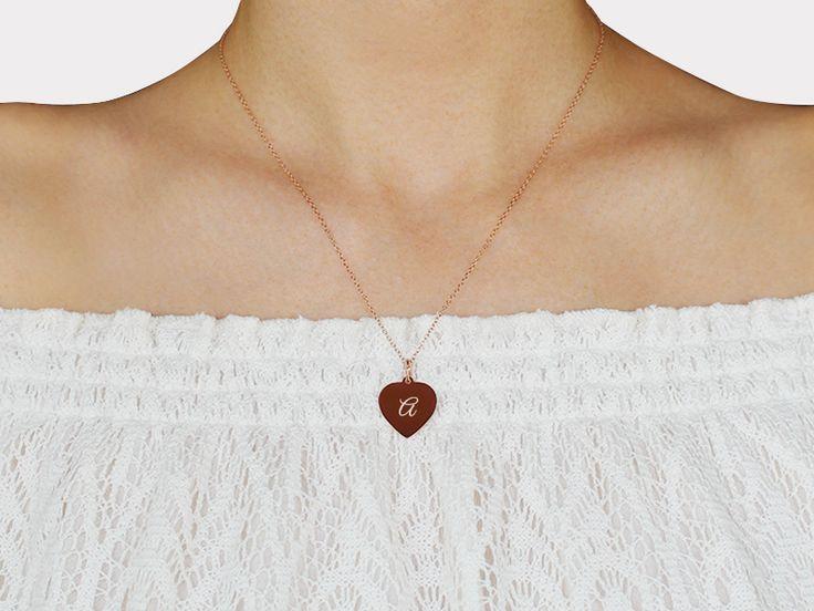Herz-Anhänger-Kette mit Deiner Wunsch Gravur - 925 rosévergoldet #gravur #gravurschmuck #herzanhänger #liebe #love #geschenkideen #geschenkidee #rosegold #rosé #gravurkette #gravuren #herzschmuck