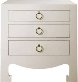 Jacqui 3-Drawer Side Table by Bungalow 5 contemporary-nightstands-and-bedside-tables
