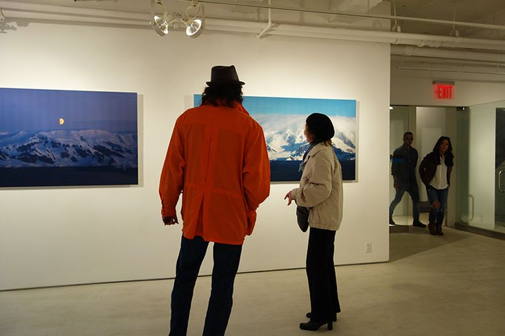 """Opening Night of """"Serenity in Snow: Scenes of Silent Beauty"""" at the Onishi Project in #NYC. #fineart #photography"""