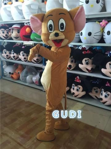 High quality jerry mouse cartoon mascot costumes Halloween party adult size