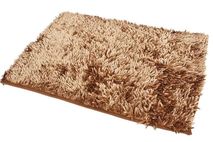 Karmelowe dywaniki do łazienki