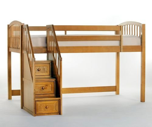 ★ Buy the School House Junior Low Loft Bed with Stairs by NE Kids in a Pecan Finish ★ School House Junior Loft Bed with Stairs 6060 ★ Wide Selection of Ne Kids Furniture low loft beds at Kids Furniture Warehouse