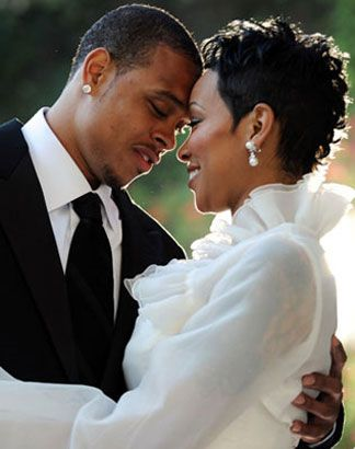 Monica Brown and husband Shannon Brown