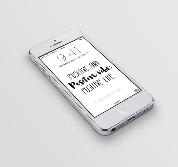 iPhone wallpaper Positive mind Positive vibe by aTypeOfInspiration