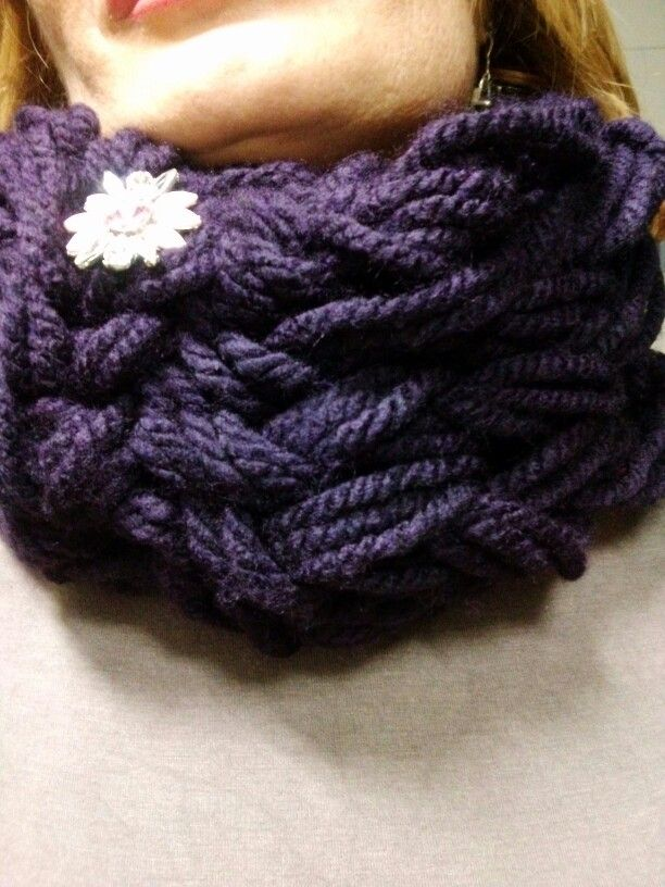 Violet mania.arm knitting
