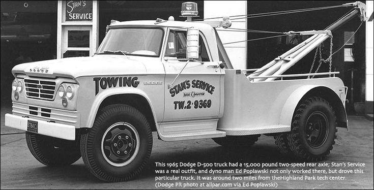 1965 Dodge D 500 Tow Truck Matchbox Kings Casting 1 64