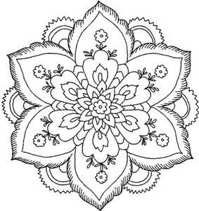Flower Qadult Coloring Pages
