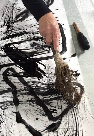 Mark making with experimental tools