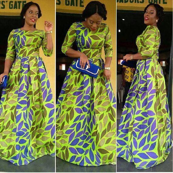 Robe d\u0027Ankara par DEAFRICANSHOP sur Etsy · AfricainsPagne