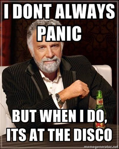 Panic! At the disco! Can't wait for Wednesday!