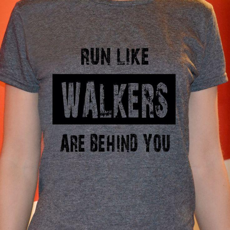 T-shirt The Walking Dead zombie tshirt maglietta da donna shirt divertente Dixon Run Like Walkers are behind you di Verifly su Etsy https://www.etsy.com/it/listing/221721529/t-shirt-the-walking-dead-zombie-tshirt