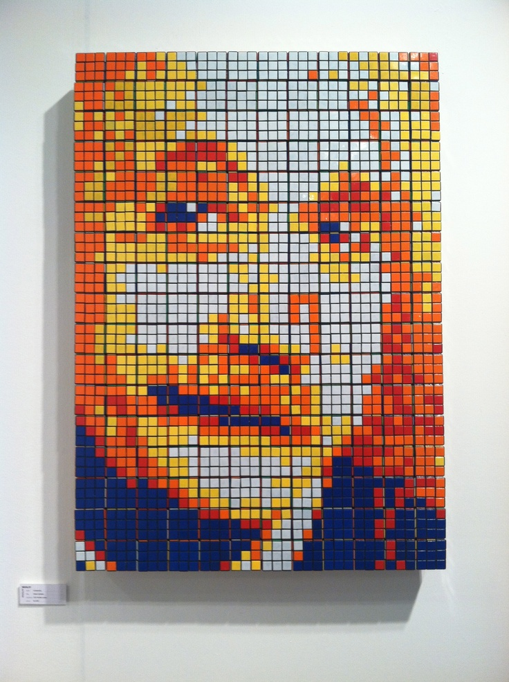 example of rubiks cube art