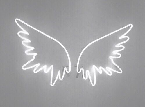 aesthetic, angel, lights, white, wings
