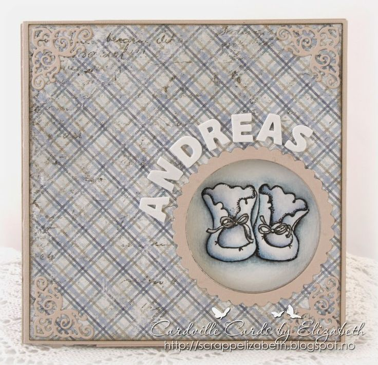 Cardville- Elizabeths Kreative sider: Peek-a-boo card for a new baby