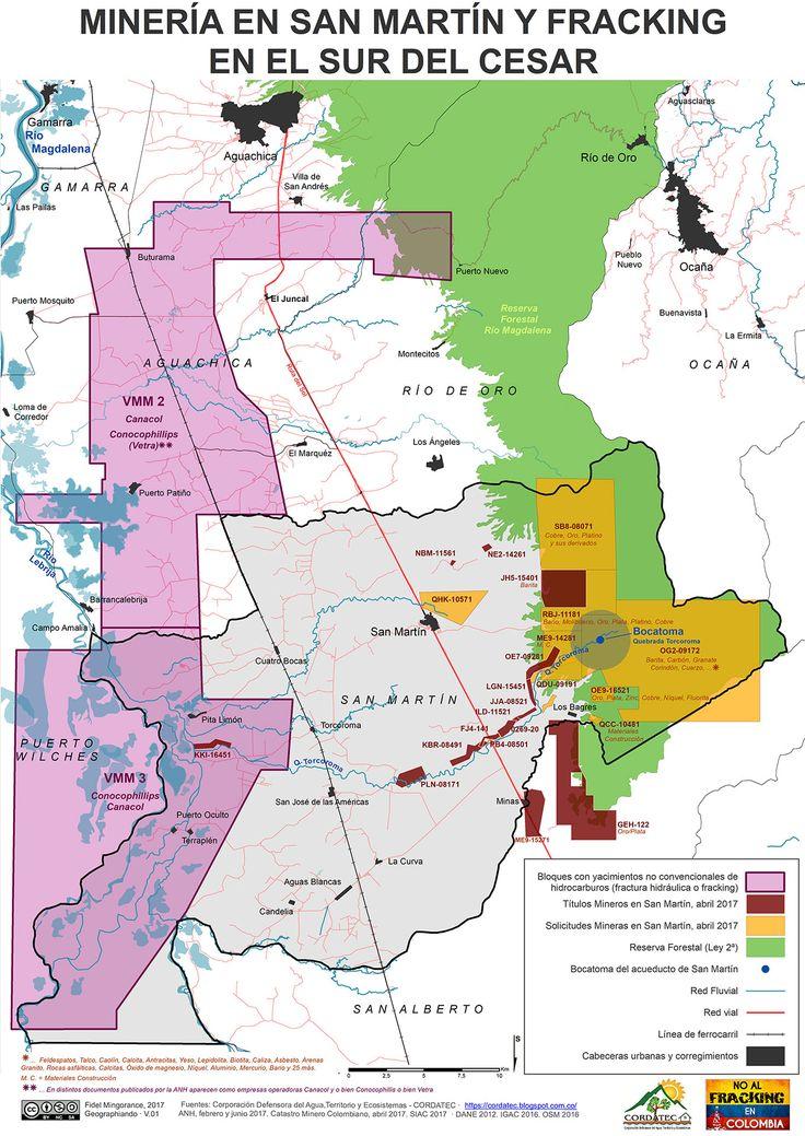 Minería en San Martín y fracking en el Sur del Cesar, abril 2017