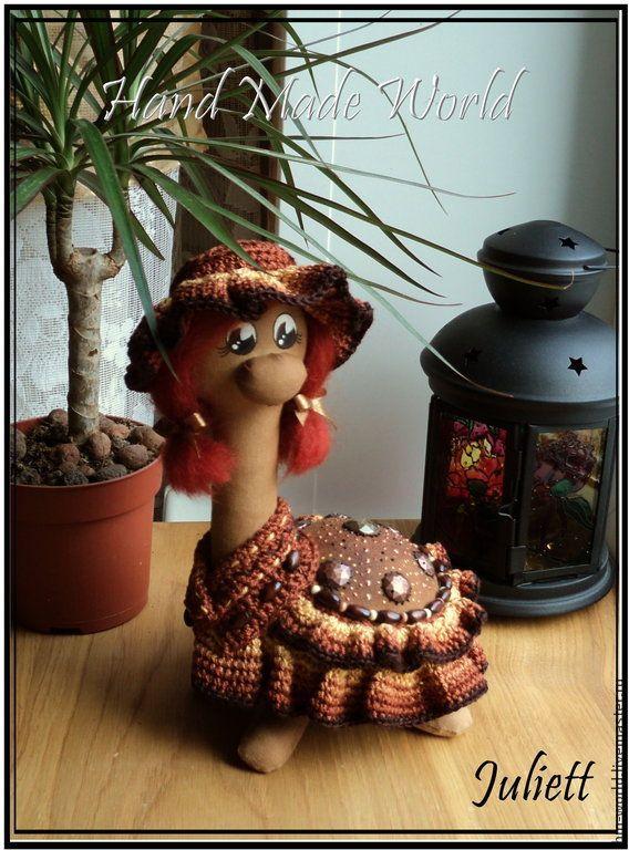 """Кофейная черепашка """"Злата"""" - коричневый,ароматизированная кукла,ароматизированная игрушка"""