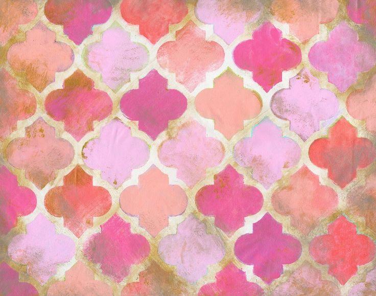 Moroccan Pink Canvas Art