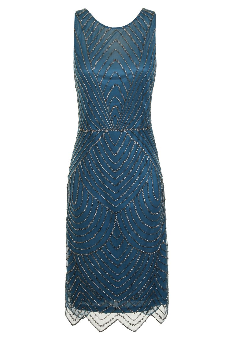 Blue Sequin Floral Dress by Frock and Frill - definitely got my eye on this  for the great gatsby themed grad ball!