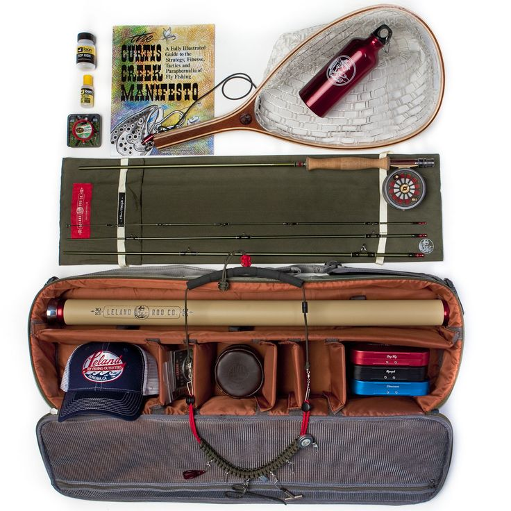 Start fly fishing with the essentials in this kit from Leland Rod Company. River and Fishing License Not Included...