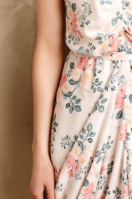Draped Bouquet Dress w/ Rifle Paper Co. print